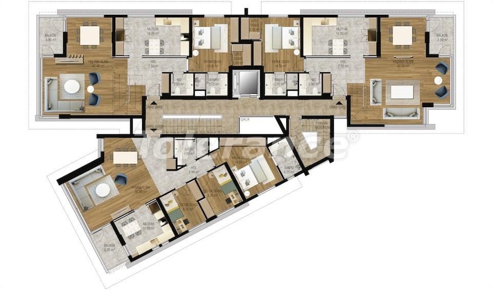 Современные апартаменты в Унджалы, Коньяалты с бассейном от надежного застройщика с рассрочкой - 16210 | Tolerance Homes