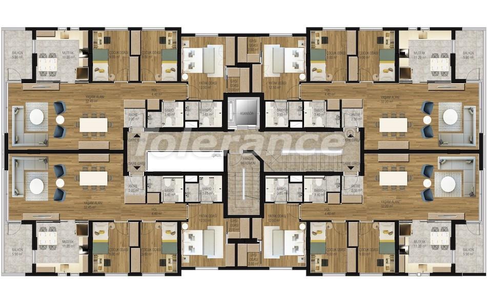 Современные апартаменты в Унджалы, Коньяалты с бассейном от надежного застройщика с рассрочкой - 16204 | Tolerance Homes