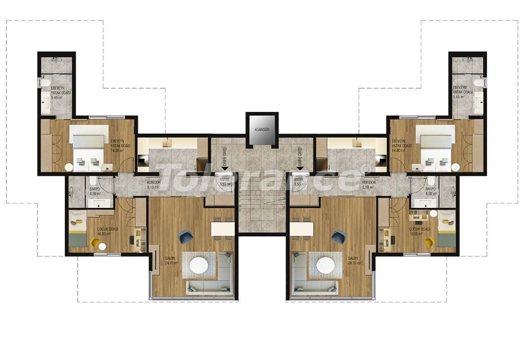 Современные квартиры в Ларе, Анталия от надежного застройщика - 16212 | Tolerance Homes
