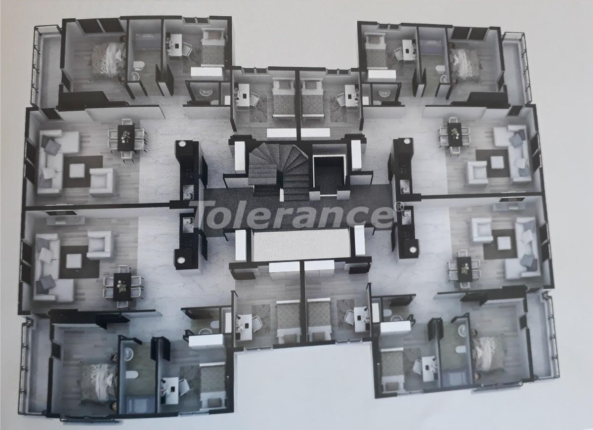 Квартиры в Сарысу, Коньяалты c бассейном от надежного застройщика  с рассрочкой до 12 месяцев - 16349   Tolerance Homes