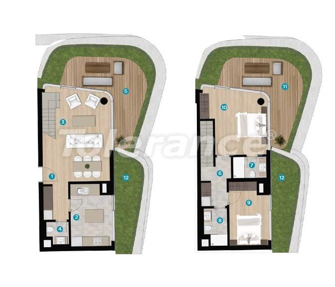 Роскошные апартаменты в Чешме, Измир на берегу моря от лучшего застройщика - 16446 | Tolerance Homes