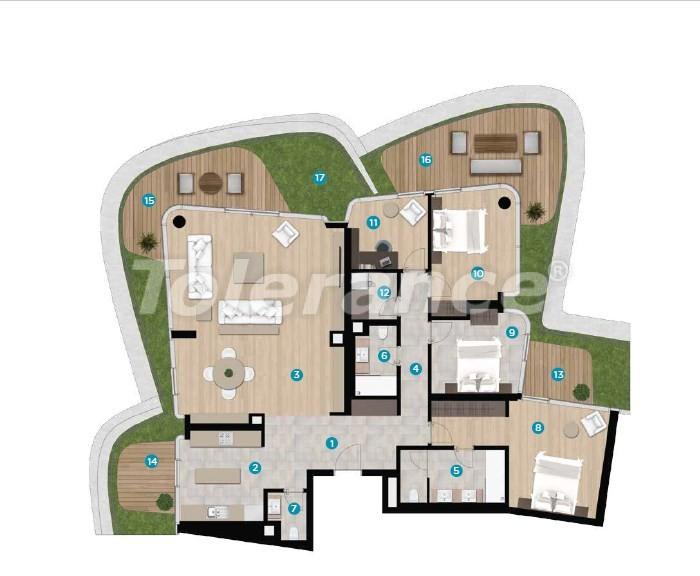 Роскошные апартаменты в Чешме, Измир на берегу моря от лучшего застройщика - 16448 | Tolerance Homes