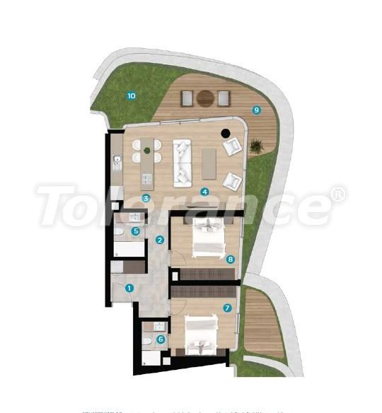 Роскошные апартаменты в Чешме, Измир на берегу моря от лучшего застройщика - 16444 | Tolerance Homes