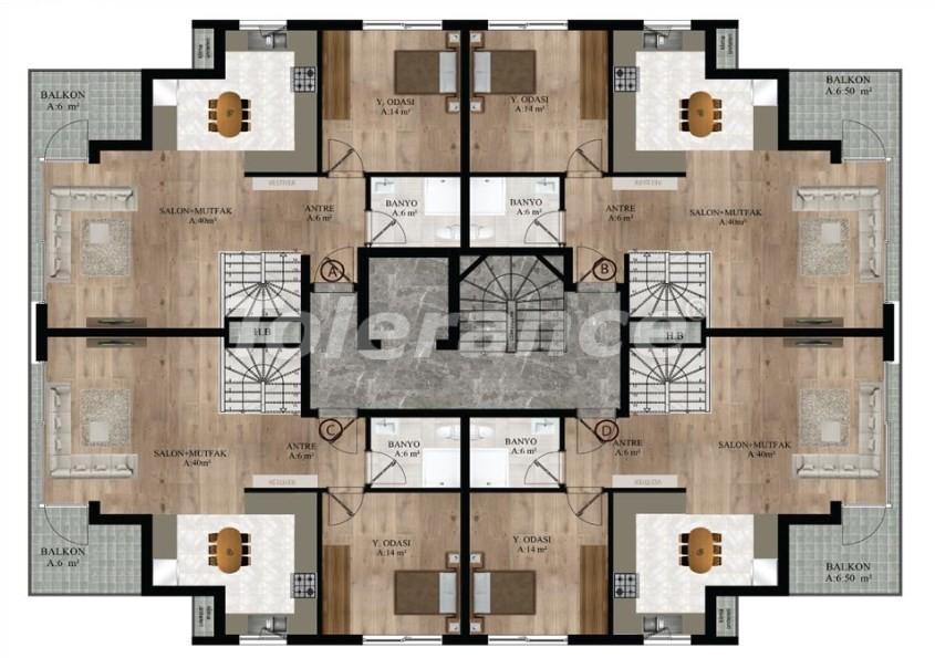 Квартиры в Хурме, Коньяалты от надежного застройщика  в комплексе с бассейном - 16689 | Tolerance Homes