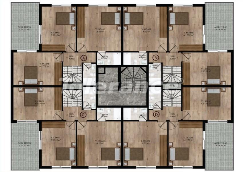 Квартиры в Хурме, Коньяалты от надежного застройщика  в комплексе с бассейном - 16688 | Tolerance Homes