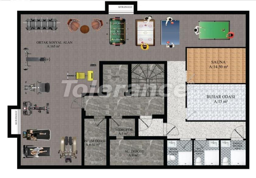 Квартиры в Хурме, Коньяалты от надежного застройщика  в комплексе с бассейном - 16690 | Tolerance Homes