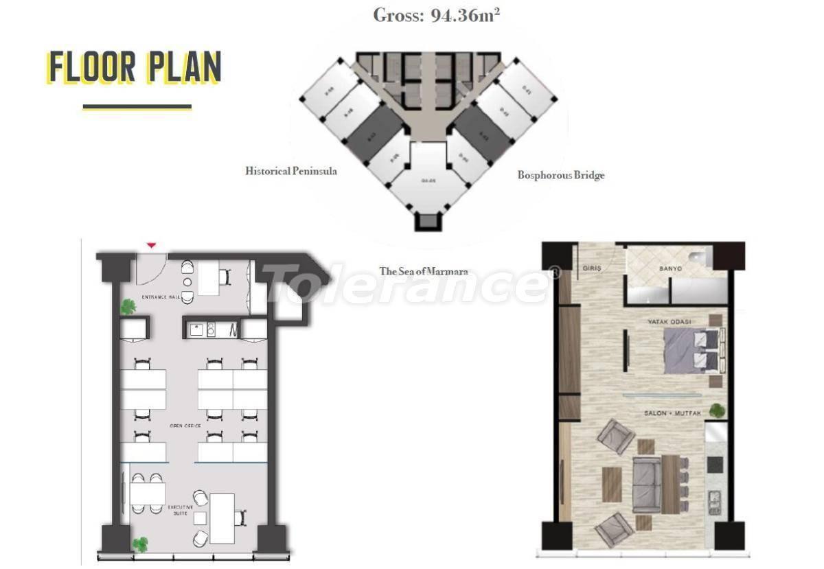 Просторные офисы в Шишли, Стамбул в современном комплексе с гарантией аренды на 3 года - 24703 | Tolerance Homes