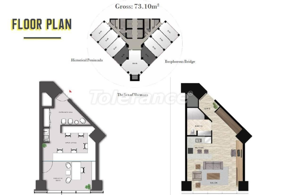 Просторные офисы в Шишли, Стамбул в современном комплексе с гарантией аренды на 3 года - 24702   Tolerance Homes