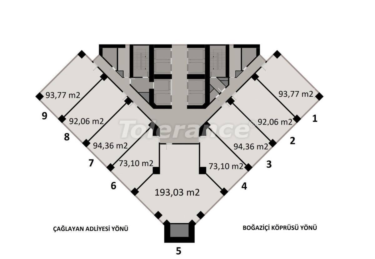 Просторные офисы в Шишли, Стамбул в современном комплексе с гарантией аренды на 3 года - 24707   Tolerance Homes