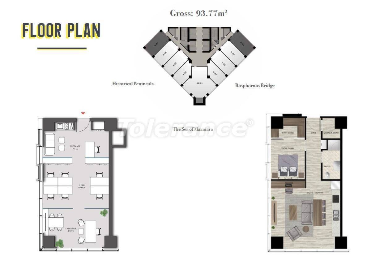 Просторные офисы в Шишли, Стамбул в современном комплексе с гарантией аренды на 3 года - 24705   Tolerance Homes