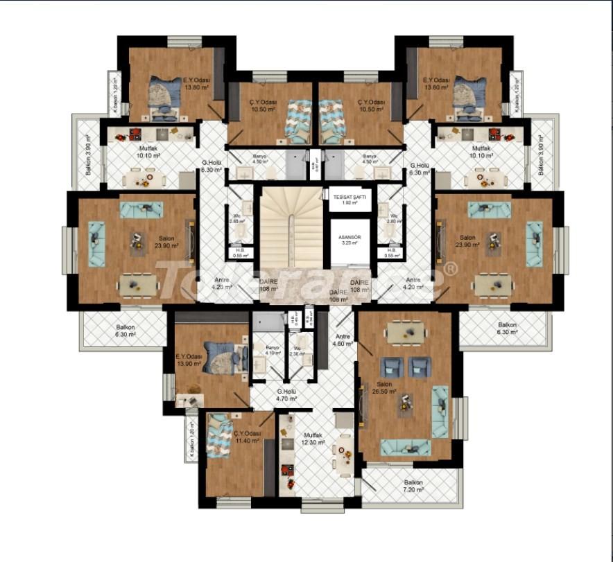 Недорогие квартиры в центре Анталии в комплексе с бассейном от застройщика - 16875 | Tolerance Homes