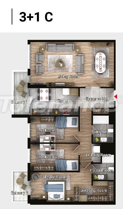 Новые готовые квартиры в Авджыларе, Стамбул в современном комплексе с рассрочкой до 6 месяцев - 17189 | Tolerance Homes