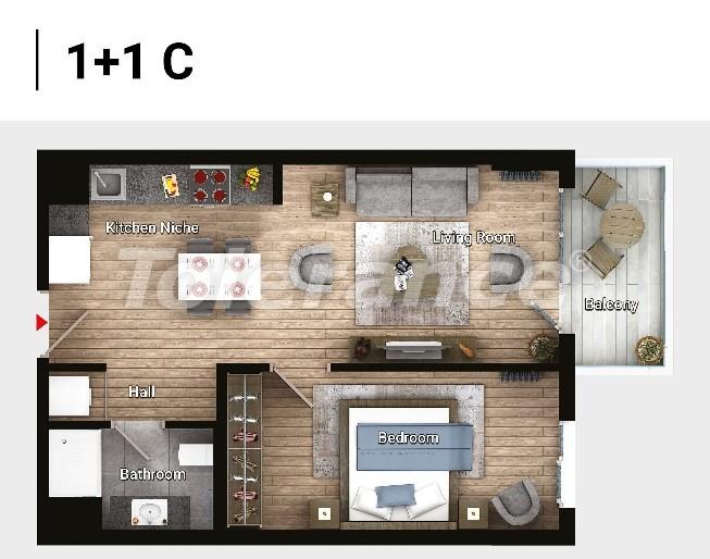 Новые готовые квартиры в Авджыларе, Стамбул в современном комплексе с рассрочкой до 6 месяцев - 17177 | Tolerance Homes