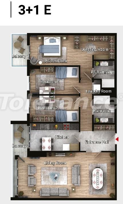 Новые готовые квартиры в Авджыларе, Стамбул в современном комплексе с рассрочкой до 6 месяцев - 17191 | Tolerance Homes