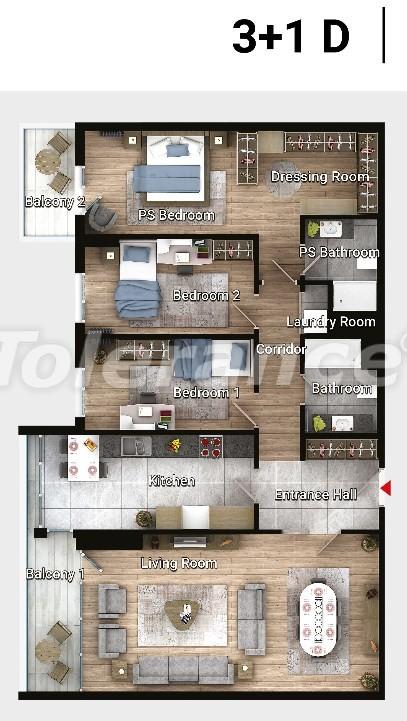 Новые готовые квартиры в Авджыларе, Стамбул в современном комплексе с рассрочкой до 6 месяцев - 17190 | Tolerance Homes