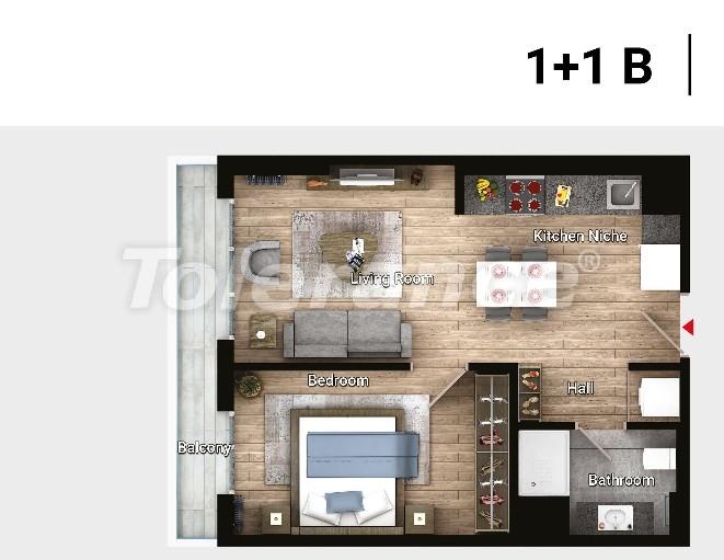 Новые готовые квартиры в Авджыларе, Стамбул в современном комплексе с рассрочкой до 6 месяцев - 17176 | Tolerance Homes