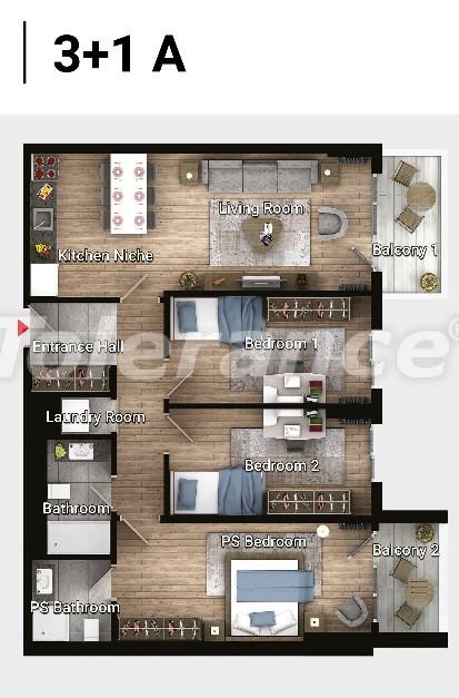 Новые готовые квартиры в Авджыларе, Стамбул в современном комплексе с рассрочкой до 6 месяцев - 17187 | Tolerance Homes