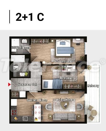 Новые готовые квартиры в Авджыларе, Стамбул в современном комплексе с рассрочкой до 6 месяцев - 17182 | Tolerance Homes