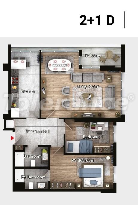 Новые готовые квартиры в Авджыларе, Стамбул в современном комплексе с рассрочкой до 6 месяцев - 17183 | Tolerance Homes