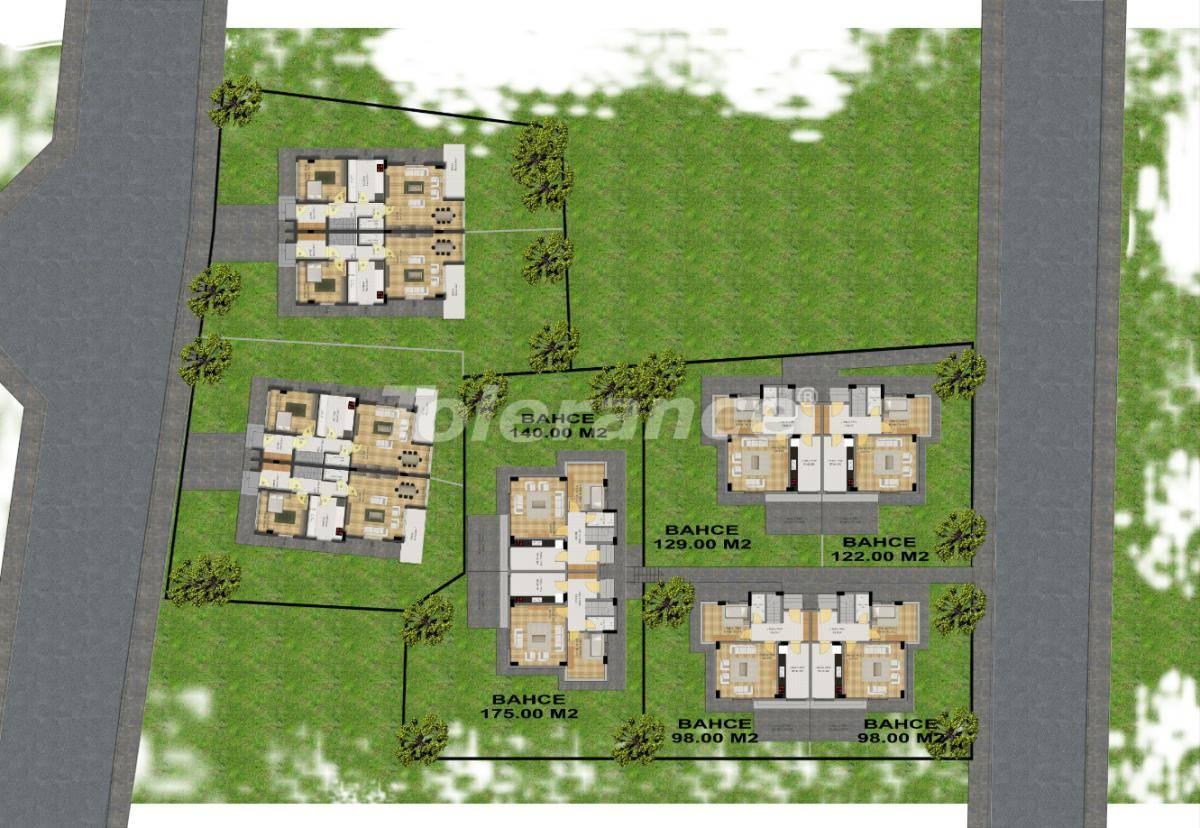 Современные виллы в Куздере, Кемер с большим садом - 17330 | Tolerance Homes