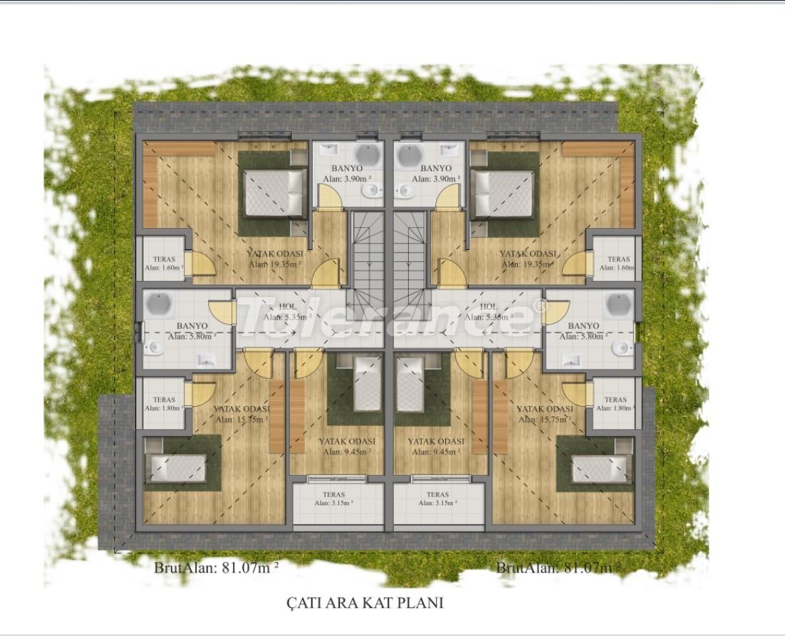 Современные виллы в Куздере, Кемер в комплексе с бассейном - 17379 | Tolerance Homes