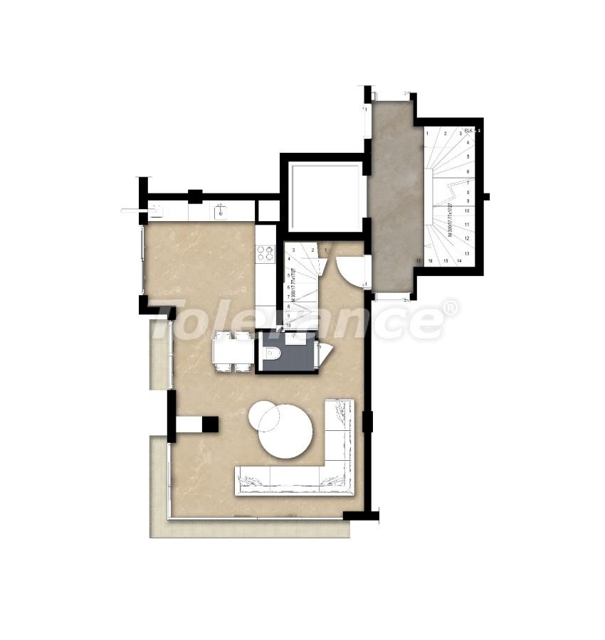 Просторные квартире в Ларе, Анталия рядом с морем - 17678 | Tolerance Homes