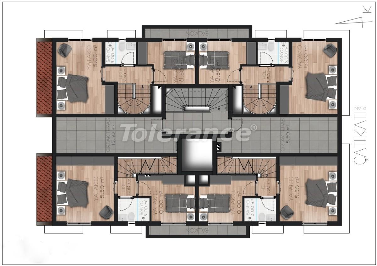 Просторные квартире в Ларе, Анталия рядом с морем - 17676 | Tolerance Homes