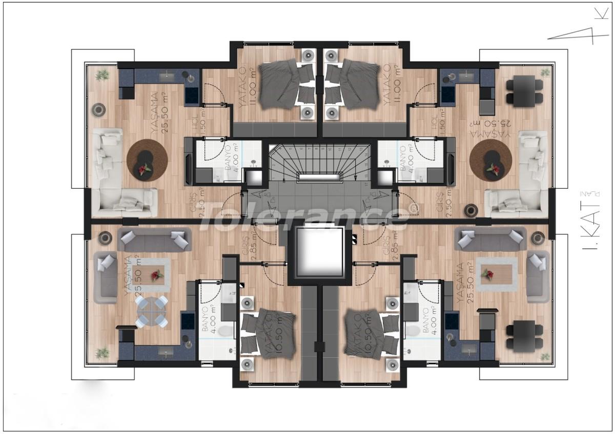 Просторные квартире в Ларе, Анталия рядом с морем - 17675 | Tolerance Homes