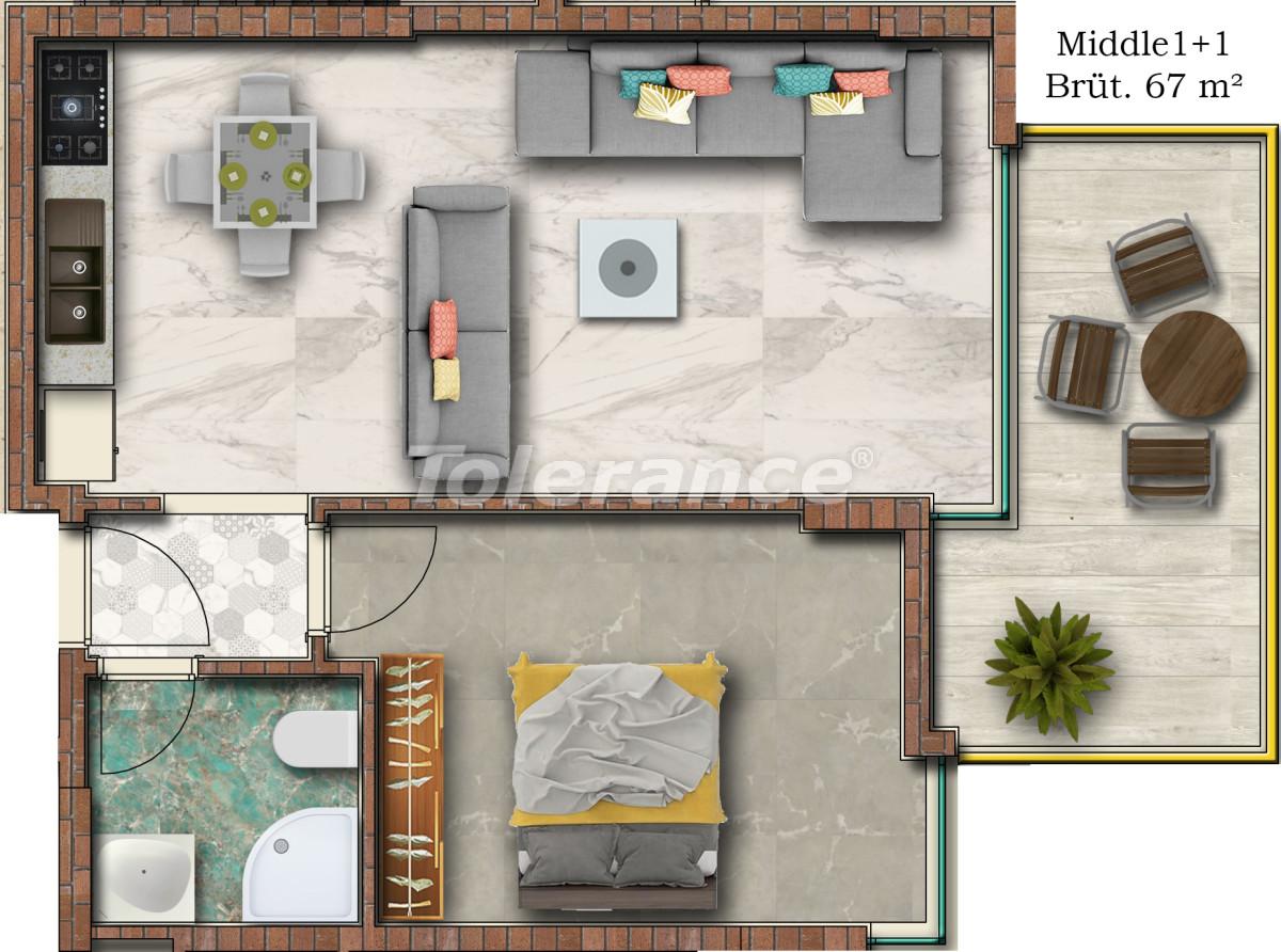 Отличные апартаменты в Махмутларе от надежного застройщика - 17751 | Tolerance Homes