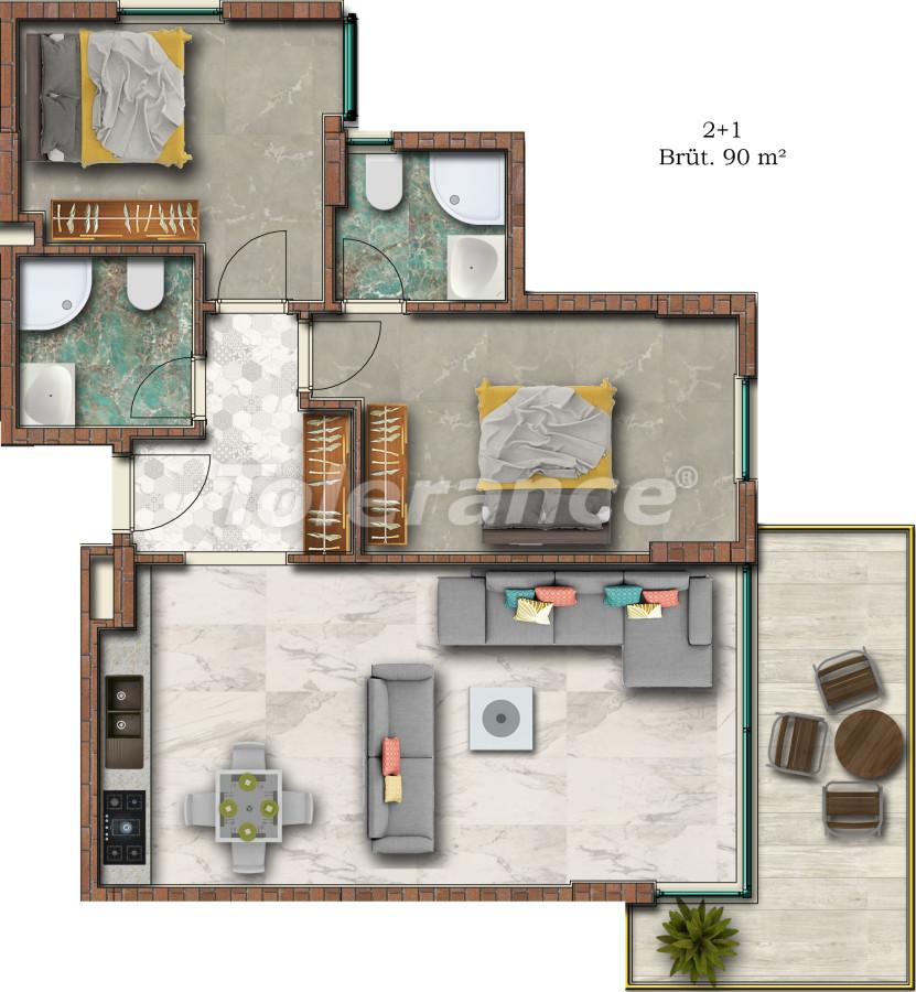 Отличные апартаменты в Махмутларе от надежного застройщика - 17749 | Tolerance Homes