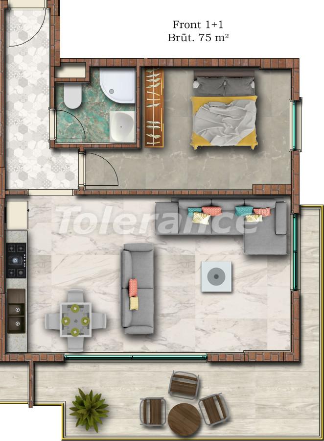 Отличные апартаменты в Махмутларе от надежного застройщика - 17750 | Tolerance Homes
