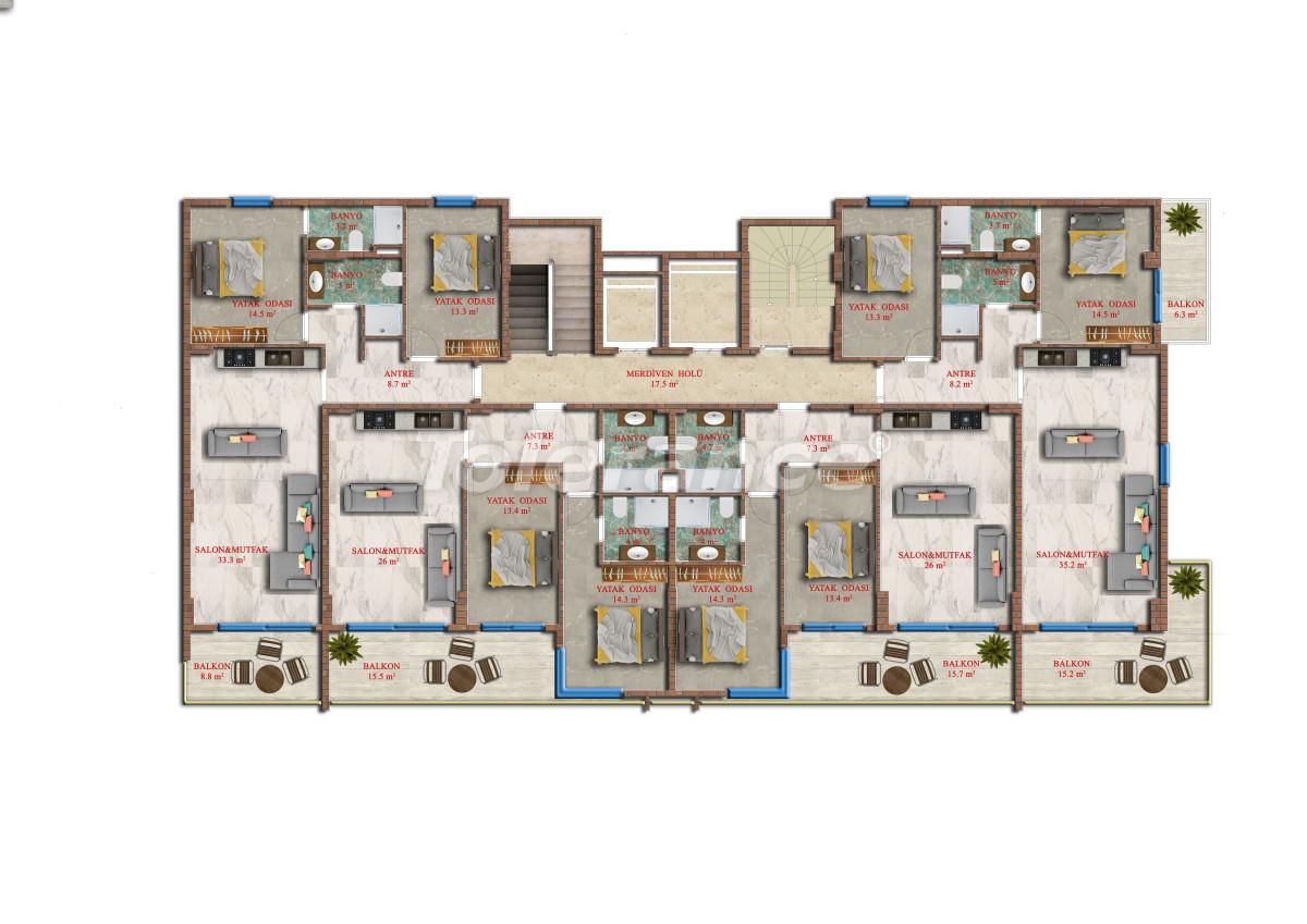 Современные апартаменты в Махмутларе от надежного застройщика с рассрочкой - 17848 | Tolerance Homes