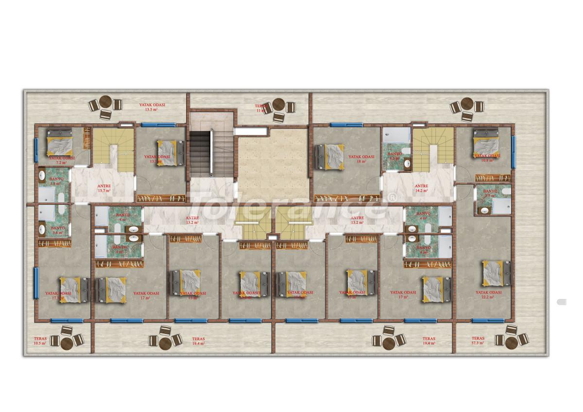 Современные апартаменты в Махмутларе от надежного застройщика с рассрочкой - 17847 | Tolerance Homes