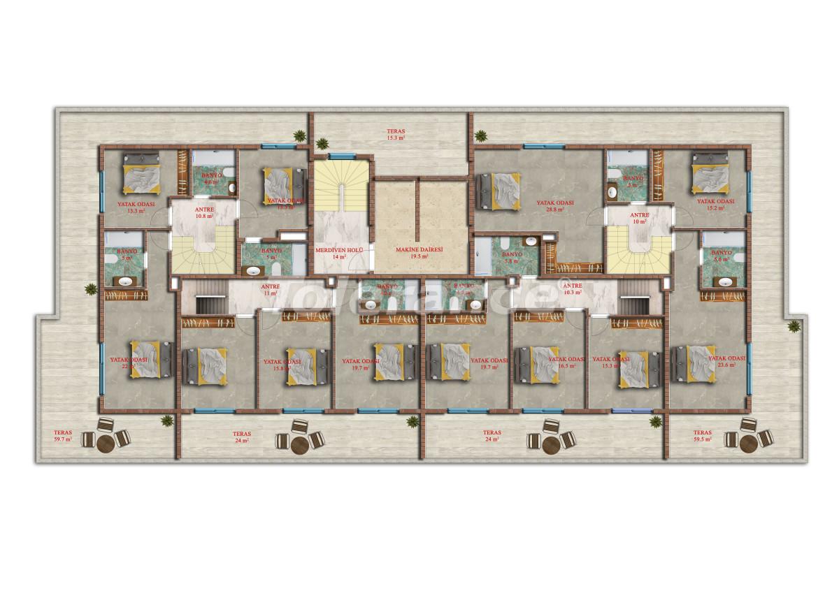 Современные апартаменты в Махмутларе от надежного застройщика с рассрочкой - 17843 | Tolerance Homes