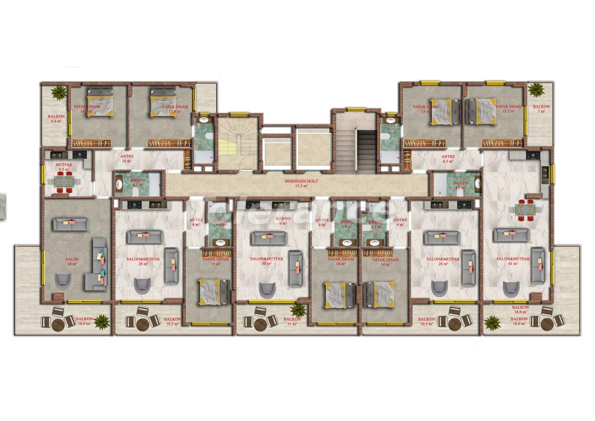 Современные апартаменты в Махмутларе от надежного застройщика с рассрочкой - 17844 | Tolerance Homes