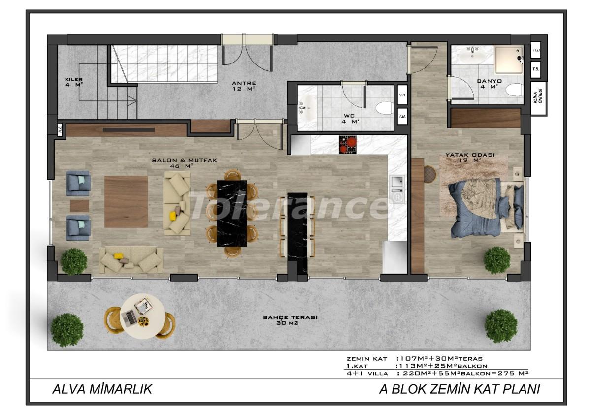 Современные виллы в центре Алании с возможностью получения гражданства - 18011 | Tolerance Homes