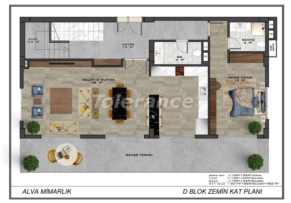 Современные виллы в центре Алании с возможностью получения гражданства - 17911 | Tolerance Homes
