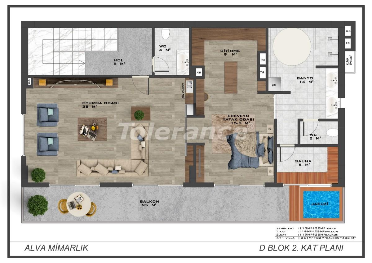 Современные виллы в центре Алании с возможностью получения гражданства - 17910 | Tolerance Homes