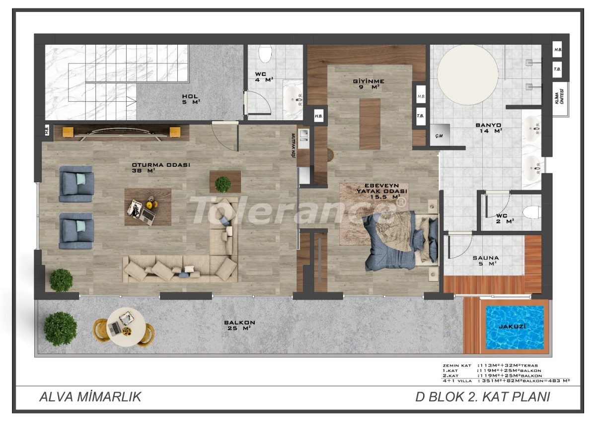 Современные виллы в центре Алании с возможностью получения гражданства - 18015 | Tolerance Homes