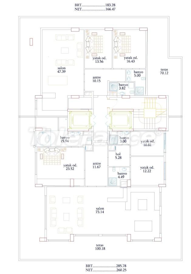 Апартаменты от застройщика в Алании класса люкс, 50м до моря - 18050 | Tolerance Homes