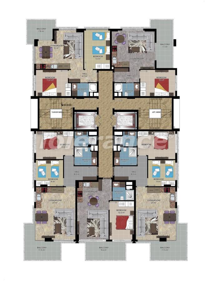 Апартаменты от застройщика в Алании класса люкс, 50м до моря - 18048 | Tolerance Homes