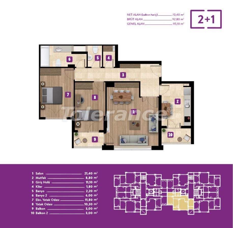 Недорогие квартиры в Измире с центральным газовым отоплением от лучшего застройщика - 18058 | Tolerance Homes