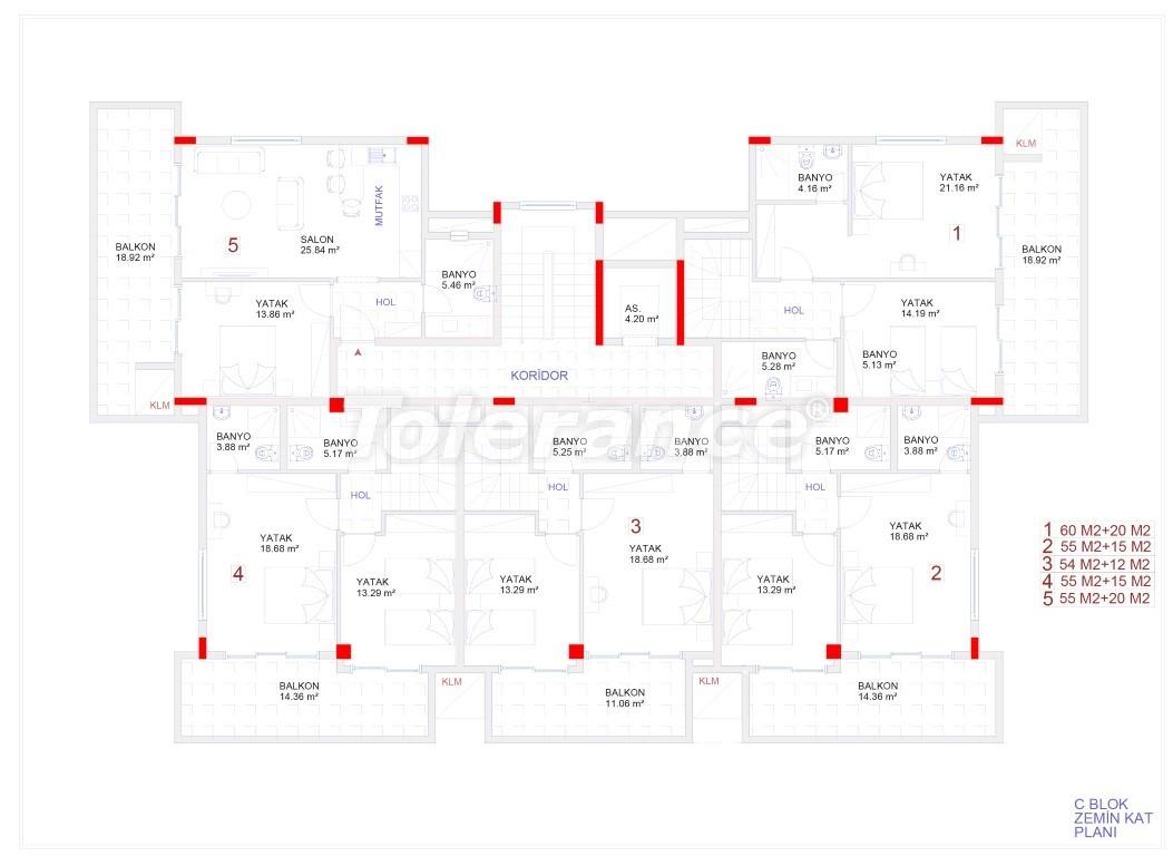 Современные апартаменты в Каргыджаке с бассейном от надежного застройщика с рассрочкой - 18120 | Tolerance Homes