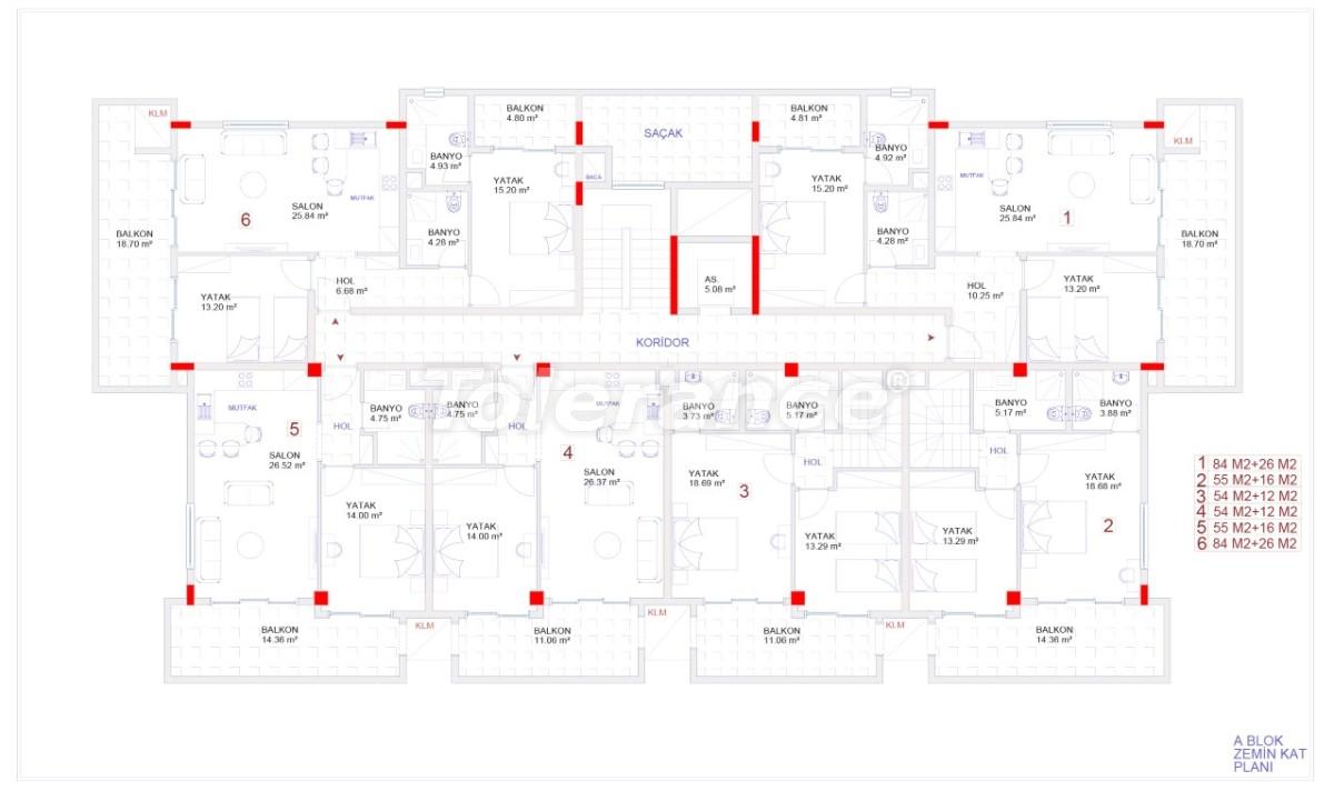 Современные апартаменты в Каргыджаке с бассейном от надежного застройщика с рассрочкой - 18115 | Tolerance Homes