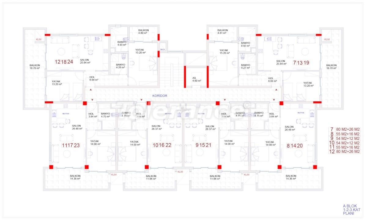 Современные апартаменты в Каргыджаке с бассейном от надежного застройщика с рассрочкой - 18112 | Tolerance Homes
