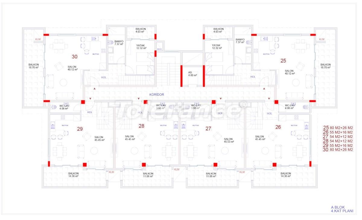 Современные апартаменты в Каргыджаке с бассейном от надежного застройщика с рассрочкой - 18111 | Tolerance Homes