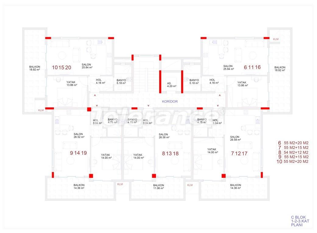 Современные апартаменты в Каргыджаке с бассейном от надежного застройщика с рассрочкой - 18117 | Tolerance Homes