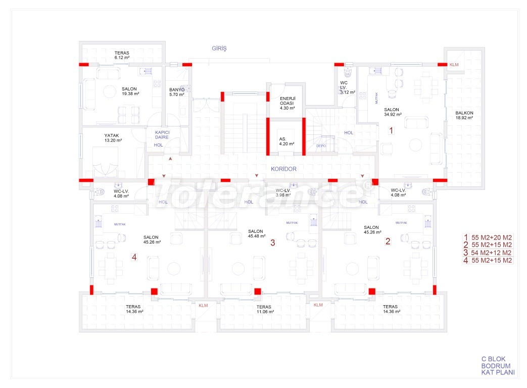 Современные апартаменты в Каргыджаке с бассейном от надежного застройщика с рассрочкой - 18118 | Tolerance Homes