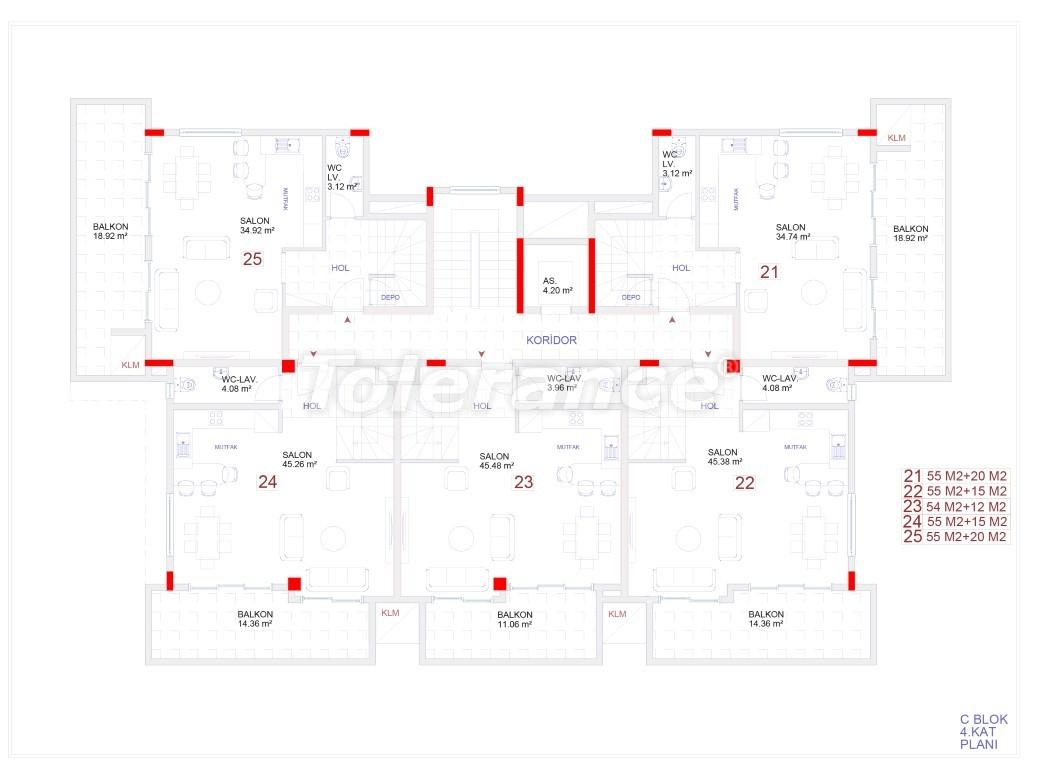 Современные апартаменты в Каргыджаке с бассейном от надежного застройщика с рассрочкой - 18116 | Tolerance Homes