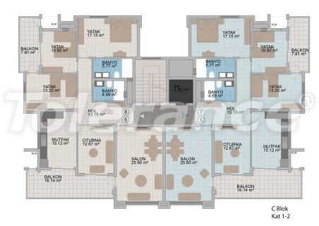 Квартиры в Оба в современном комплексе от застройщика с рассрочкой до 1 года - 18177 | Tolerance Homes